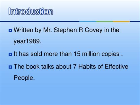 Resume 7 Habits by Book Review On 7 Habits