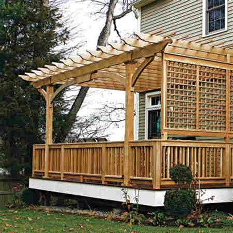 small decks with pergolas slidding back doors with small deck wood deck with pergola and lattice home pinterest