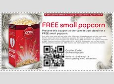 FREE IS MY LIFE COUPON FREE Small Popcorn at AMC