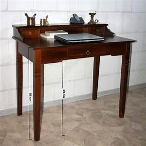 Pc Tisch Holz : sekret r schreibtisch frisiertisch pc tisch holz massiv kolonial braun nussbaum ebay ~ Markanthonyermac.com Haus und Dekorationen