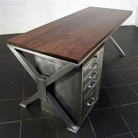 office furniture metal desk a thing of beauty handmade industrial polished metal