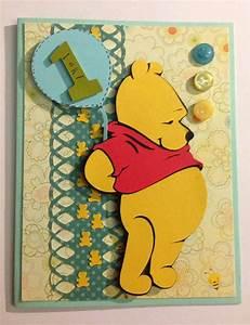 Handmade 1st birthday card of Winnie the Pooh - cricut ...