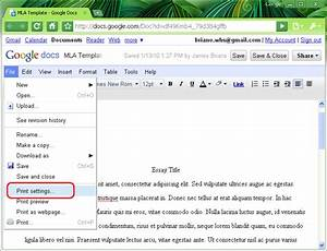 mla format mla template in word 2007 page 05 With google docs first page header