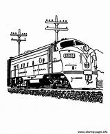 Trains Train Coloring Pages Printable Sheets Diesel Engine Canadian National Colouring Railroad Locomotive Steam 4fed Railway Coloring4free Drawing Activity Vehicles sketch template