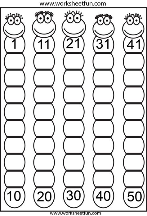 free number tracing worksheets 1 50 number tracer pages