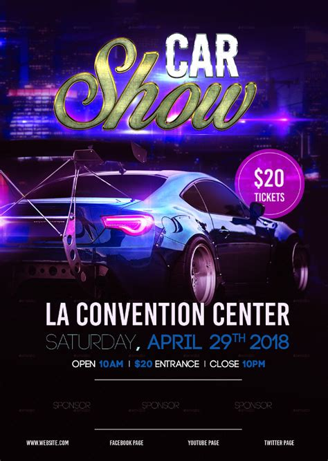 Show Template by 25 Car Show Flyer Templates Free Premium