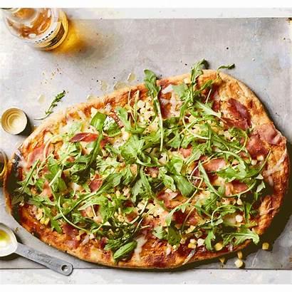 Pizza Grill Basil Prosciutto Recipe Grilled Dough