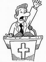 Church Preacher Cartoon Drawing Prank Paleric Si Getdrawings Rev sketch template