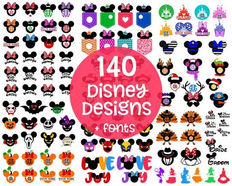 Feel free to download some or all of the listings that you see here. DISNEY Svg Disney Cut Files Svg Disney Bundle Mickey ...