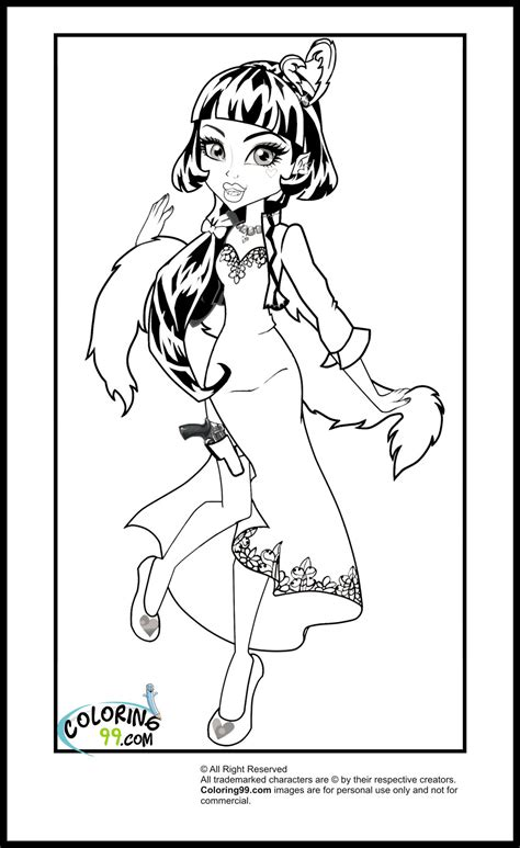 High Coloring Pages Team Colors High Draculaura Coloring Pages Team Colors