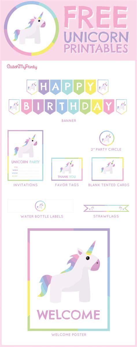 free unicorn birthday printables for catchmyparty unicorn birthday