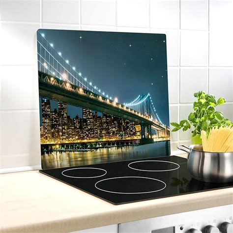 plaque protection cuisine murale protection murale en verre bridge wenko