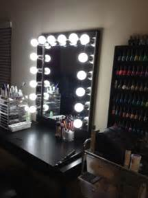 professional makeup stand ideas for your own vanity mirror with lights diy