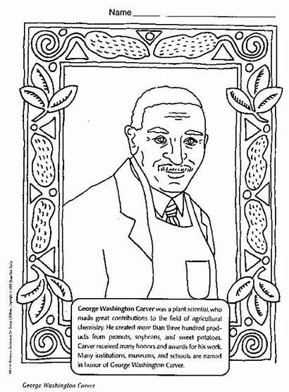 Coloring History Month George Printable Washington Carver