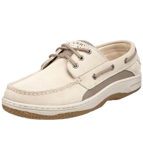 White Sperry Boat Shoes by Sperry Top Sider Billfish 3 Eye Boat Shoes In White For