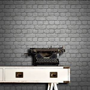 Rasch Brick Wallpaper - Grey Decorating, DIY