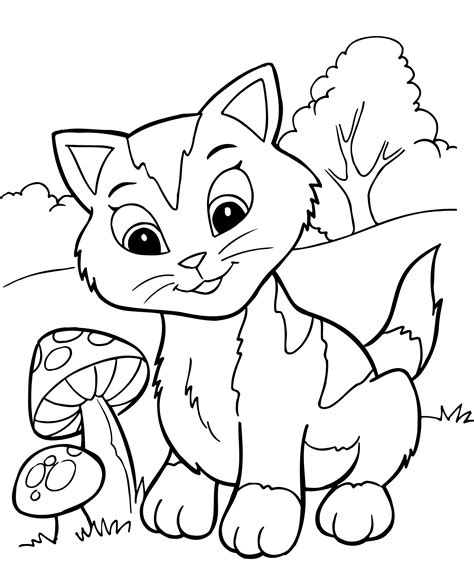 cat pictures to color free printable kitten coloring pages for best
