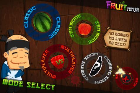 fruit ninja update   game center multiplayer games