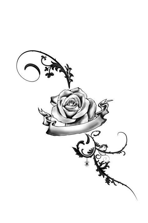 Rose And Vines Tattoos | Foot Tattoo Rose by ~JuliaVonMorque on deviantART | My board
