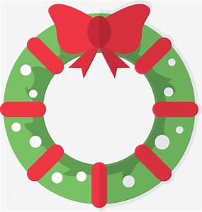 christmas wreath vector material png, Wreath, Creative ...