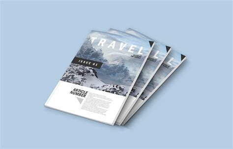 A4 210x297mm landscape magazine with matte and glossy finish. A4 Magazine Free - Best Free Mockups