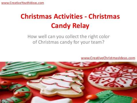 Christmas Activities  Christmas Candy Relay