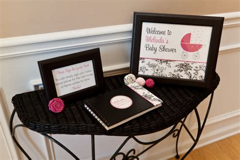 black  white toile baby shower project nursery