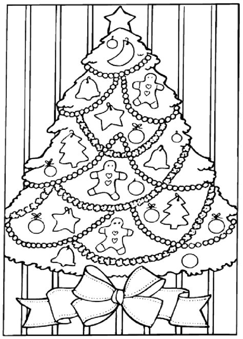 coloring pages  christmas trees coloring home
