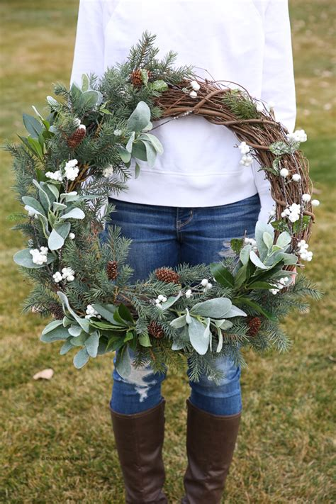 rustic farmhouse wreath step  step tutorial