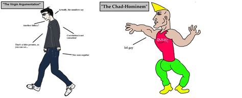 Vs Chad Template The Argumentation Vs The Chad Hominem