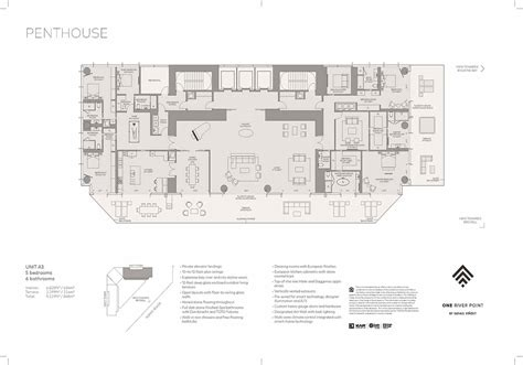 river point residence penthouse sky loft floor plans released miami luxury homes