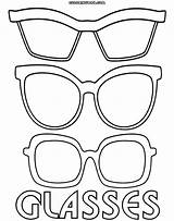 Glasses Coloring Template Pages Sunglasses Printable Sheets Eyewear Templates Printables Sketch Colorings Info sketch template