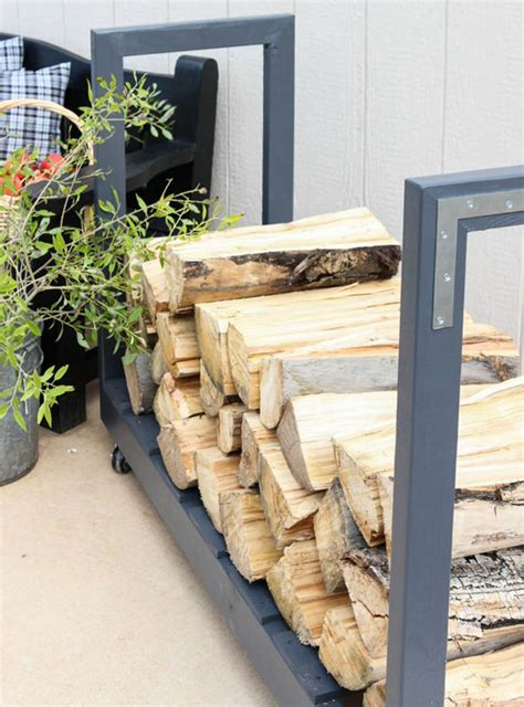 excellent diy outdoor firewood storage ideas homemydesign