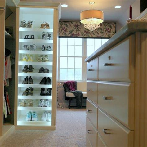 white melamine closet creates sophisticated storage space