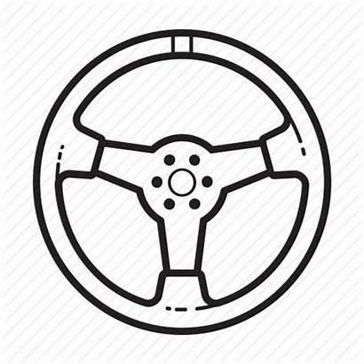 Steering Wheel Icon Parts Control Automobile Clipart