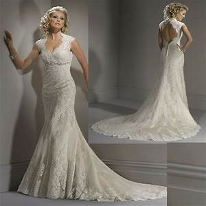 vintage lace wedding dresses with open back With lace open back wedding dresses