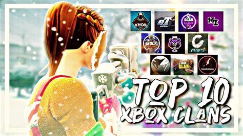 TOP 10 FORTNITE (XBOX) CLANS - YouTube
