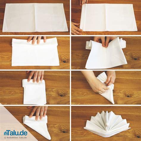 Servietten Falten Fächer servietten einfach falten