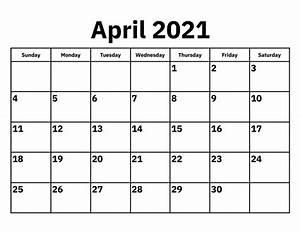 April 2021 Calendar Template With Holidays Thecalendarpedia