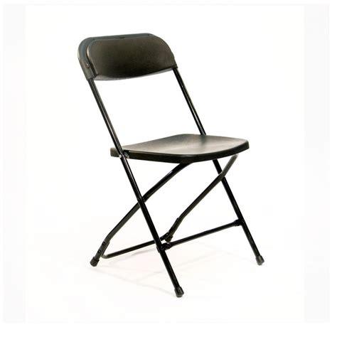folding chair basic black uptown rentals