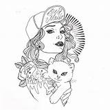 Tattoo Sketches Drawing Tattoos Designs Cool Tattooed Hd Drawings Coloring Cat Pages Female Simple Galeries Wallpapers sketch template