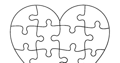 puzzle  life  heart shaped puzzle template