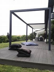 protection solaire 55 idees pour la terrasse exterieur With wonderful toile pour terrasse exterieur 0 pergolas toile pergolas
