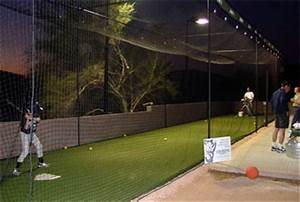 man cave luxury batting cage for your home the With outdoor lighting for backyard sports