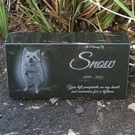 laser engraved pet memorial brick black granite brick