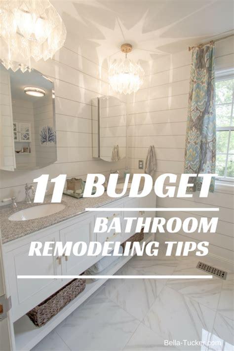 bathroom remodeling   budget bella tucker