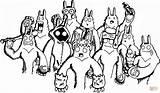 Yeti Coloring Doodle Colorare Kolorowanki Printable Disegni Coloriage Druku Kolorowanka Template Disegno Racconta Designlooter Dessin Sketch Supercoloring sketch template