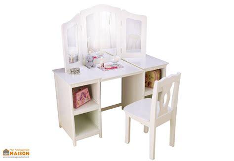 coiffeuse en bois blanc pour enfant design contemporain kidkraft