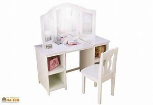 Coiffeuse Bois Enfant : coiffeuse en bois blanc pour enfant design contemporain kidkraft ~ Teatrodelosmanantiales.com Idées de Décoration