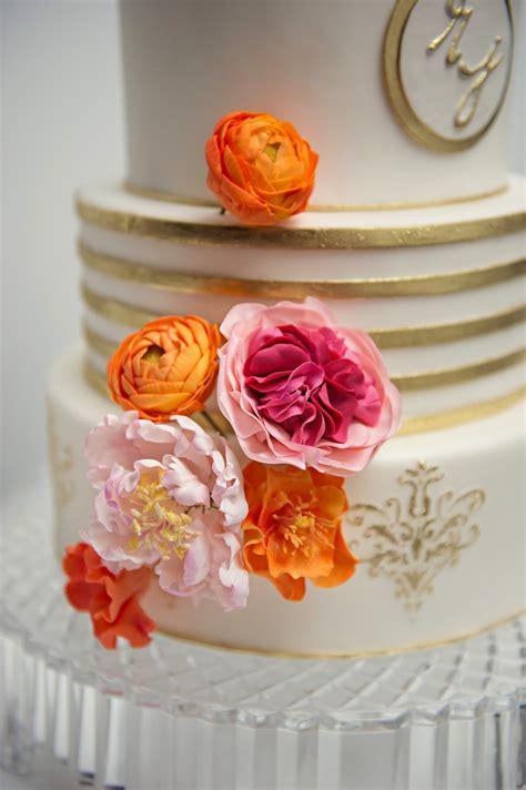 love  cake  garry ana parzych modern pink orange wedding cake  loading